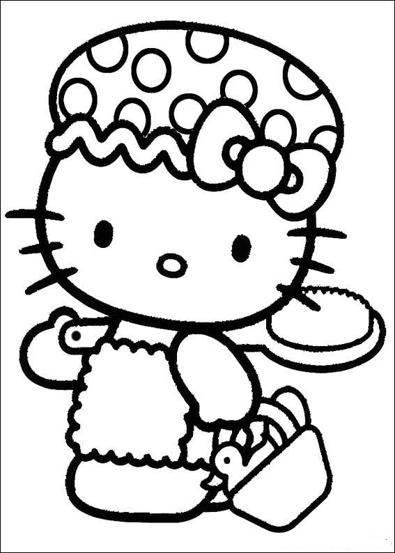 Kids-n-fun.de | 54 Ausmalbilder von Hello Kitty