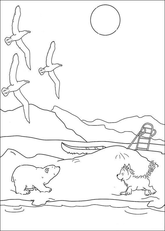 Kids N Fun De 21 Ausmalbilder Von Lars Der Kleine Eisbär