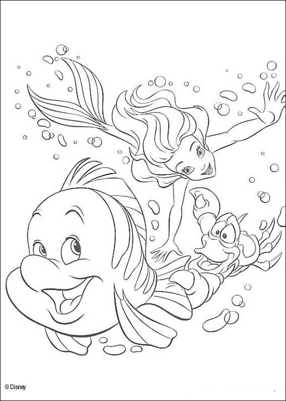 Kids N Fun De 34 Ausmalbilder Von Arielle Die Meerjungfrau