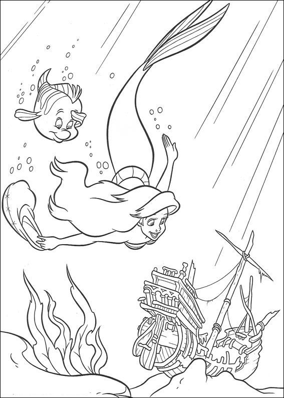 Kids-n-fun.de | 34 Ausmalbilder von Arielle, die Meerjungfrau