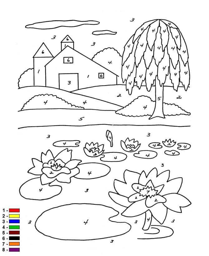 Kids N Fun De Malvorlage Malen Mit Nummern Bauernhof Kleur Op