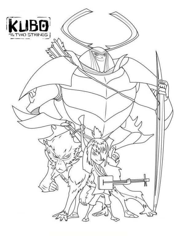 Kids-n-fun.de | 1 Ausmalbilder von Kubo der tapfere Samurai