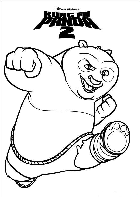 Kids N Funde Persönliche Malvorlage Erstellen Kung Fu Panda 2