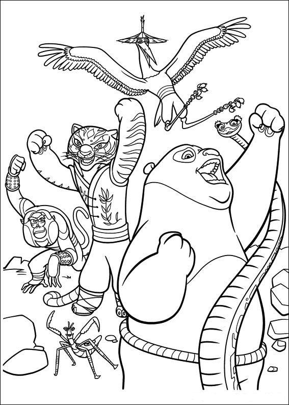 Kids N Fun De 29 Ausmalbilder Von Kung Fu Panda 2