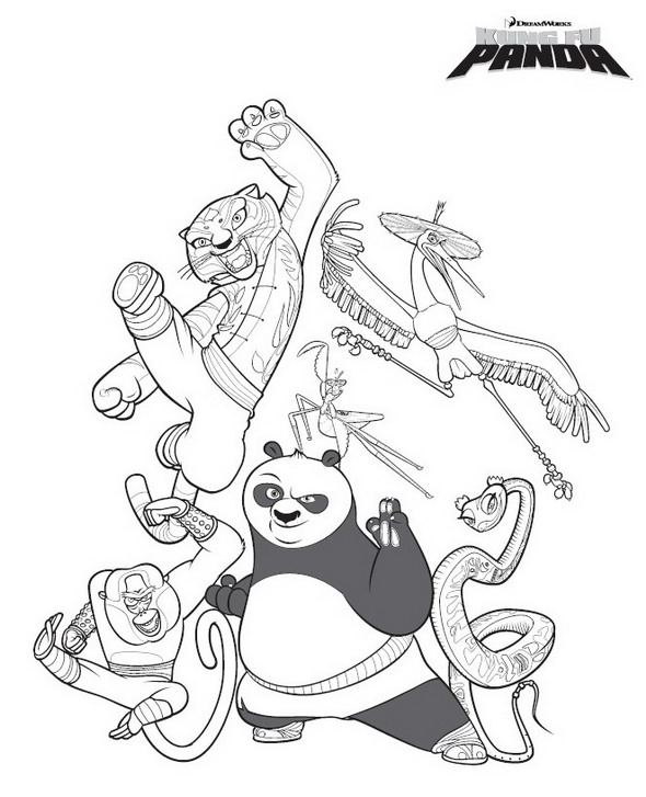 Tai Chi Coloring Pages