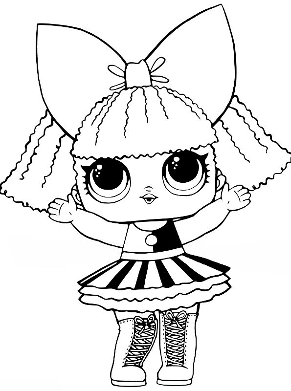 Kids-n-fun.de | 30 Ausmalbilder von L.O.L. Surprise Dolls