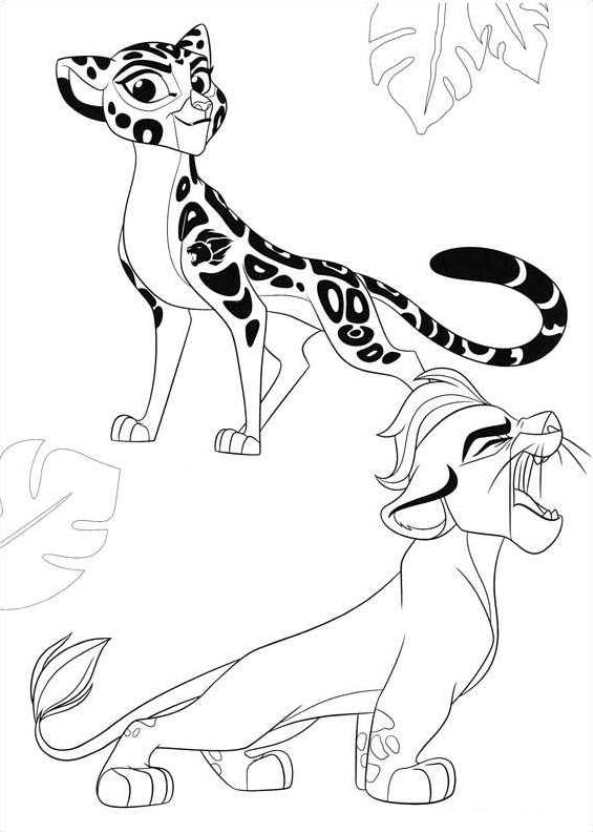 The Lion King Coloring Pages Kion