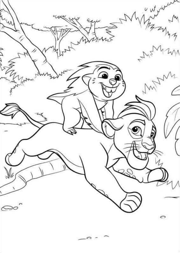 Kids N Fun De 19 Ausmalbilder Von Die Garde Der Löwen