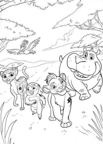 Kids N Funde 19 Ausmalbilder Von Die Garde Der Löwen