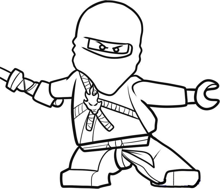 Kids n 42 ausmalbilder von lego ninjago for Kai ninjago coloring pages