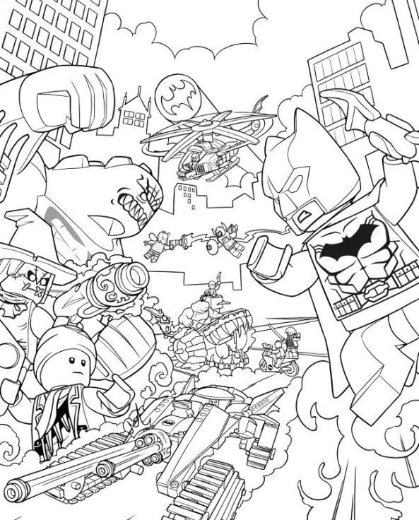 Kids n 16 ausmalbilder von lego batman movie for Lego movie coloring pages