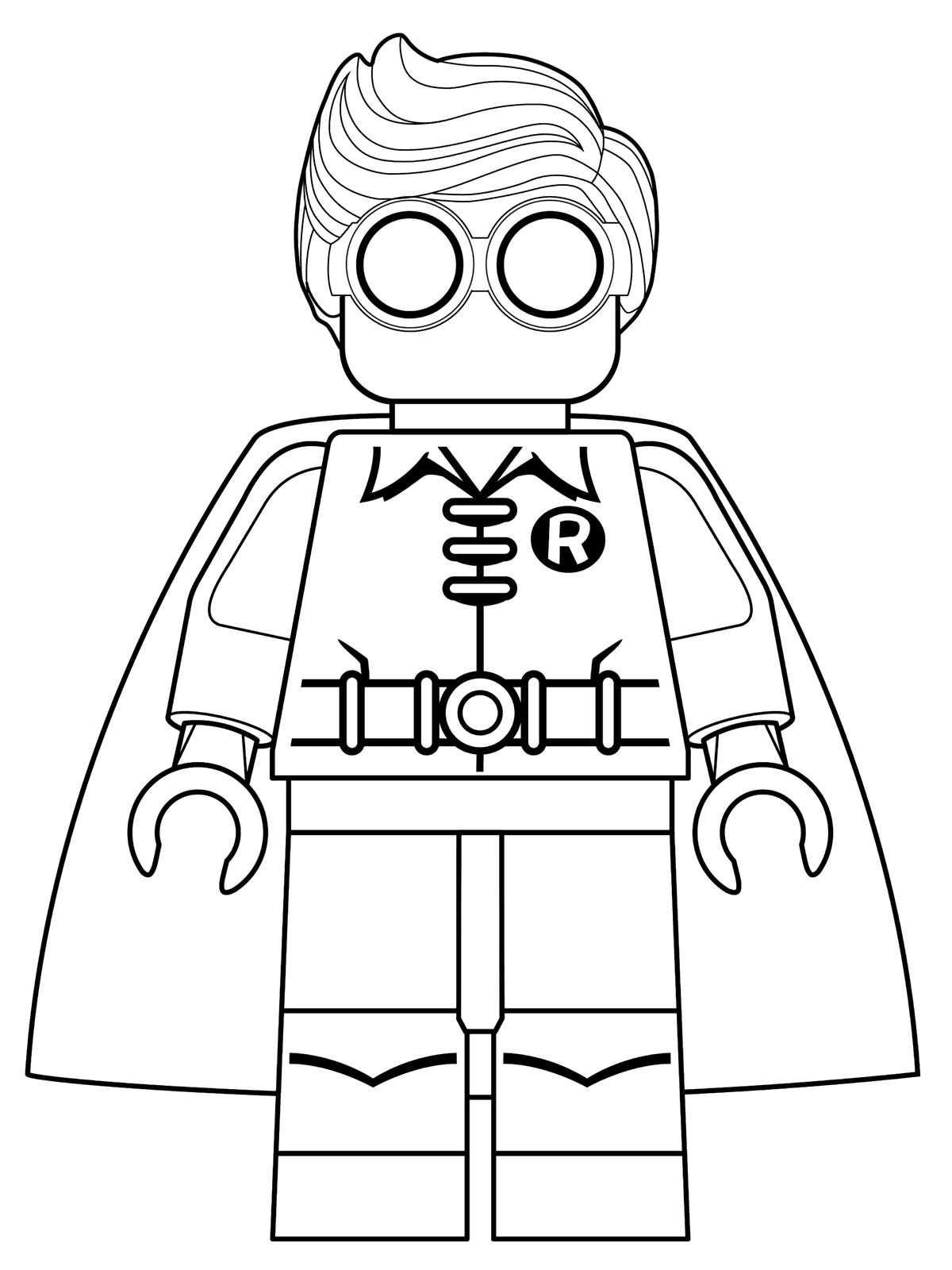 kids-n-fun.de | malvorlage lego batman movie robin
