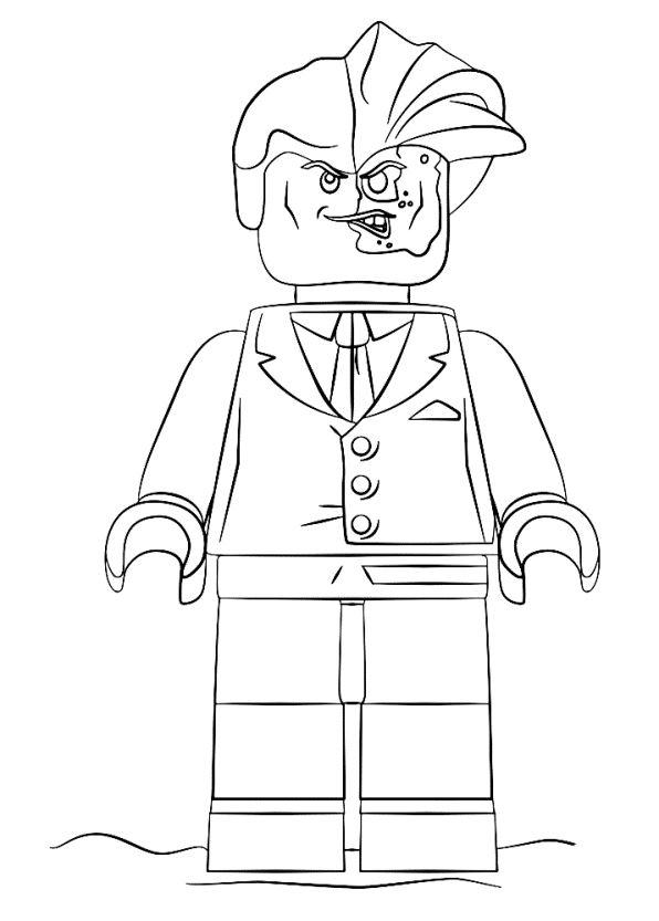 kids-n-fun.de | malvorlage lego batman movie two-face