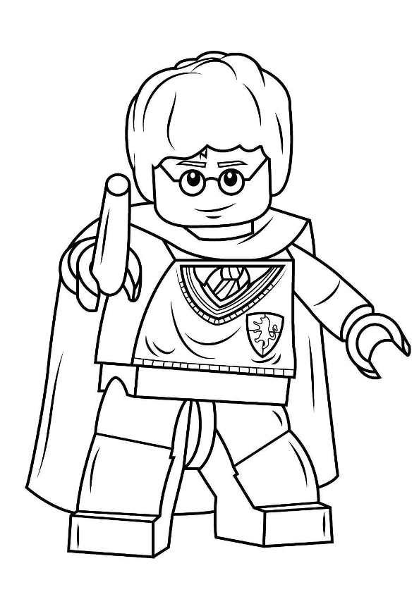 Kids-n-fun.de | 8 Ausmalbilder von Malvorlagen von Lego Harry Potter