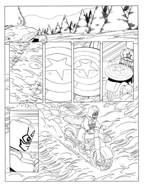 Lego Marvel Thor Avengers Coloring Pages Printable   768x593