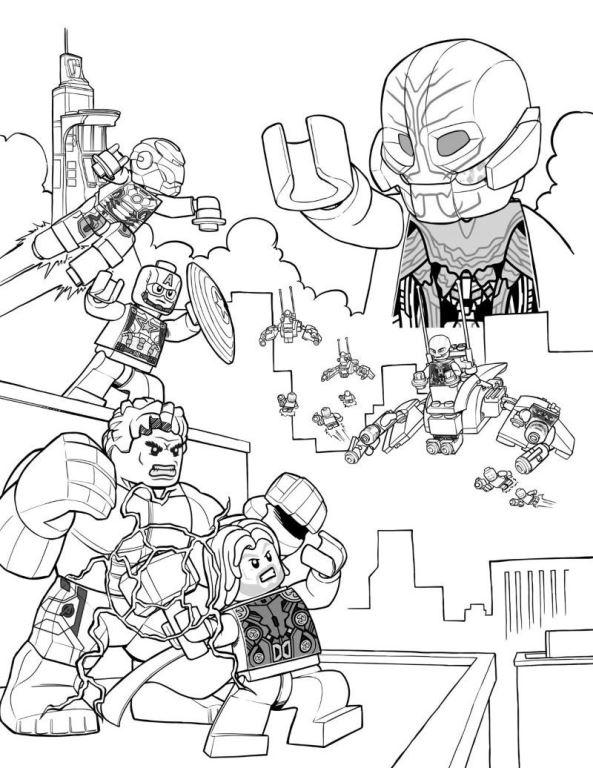 Kids N Fun De Ausmalbild Lego Marvel Avengers Age Of Ultron
