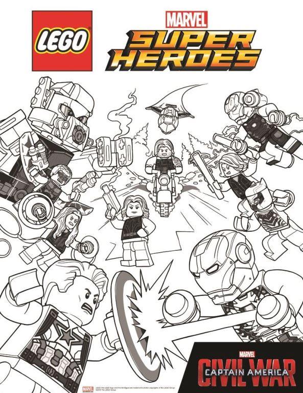 kidsnfunde  malvorlage lego marvel avengers avengers