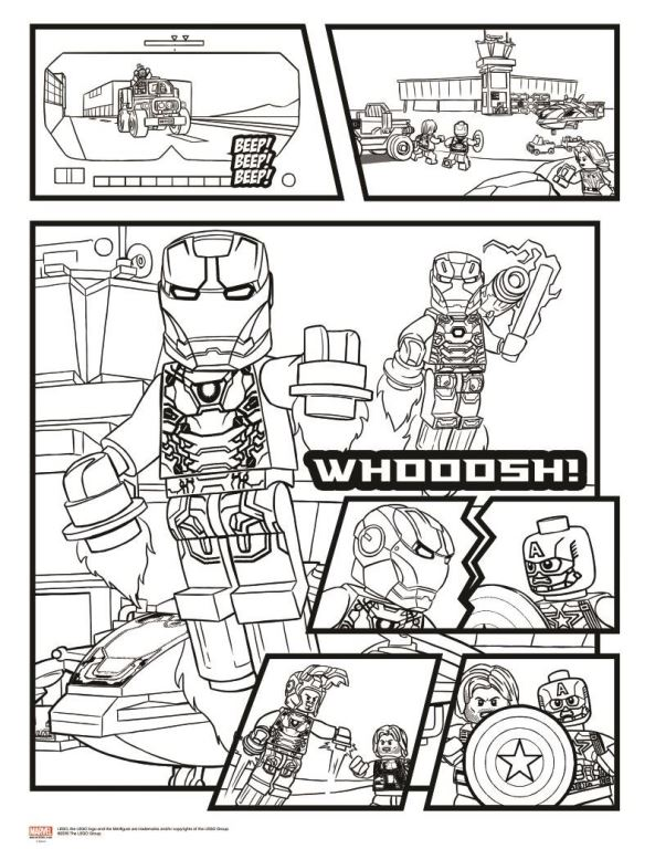 Lego Marvel Avengers Ausmalbilder: Malvorlage Lego Marvel Avengers Avengers