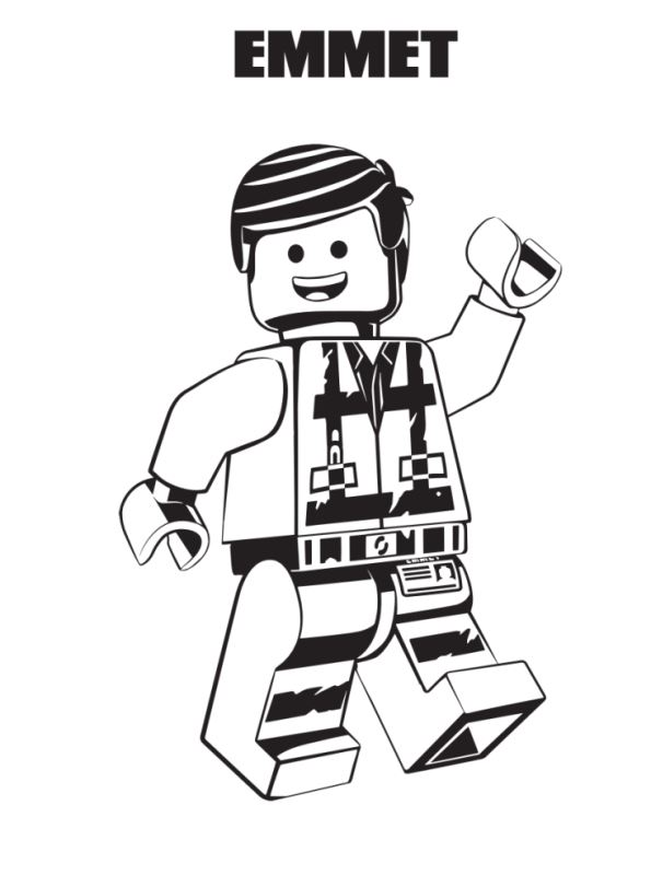 Kids N Funde Malvorlage Lego Movie 2 Emmet
