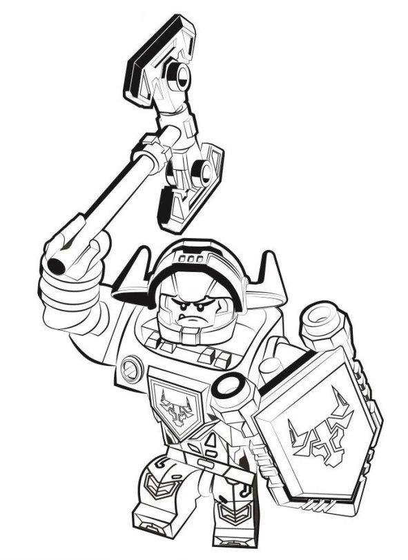 kidsnfunde  malvorlage lego nexo knights axl lego nexo