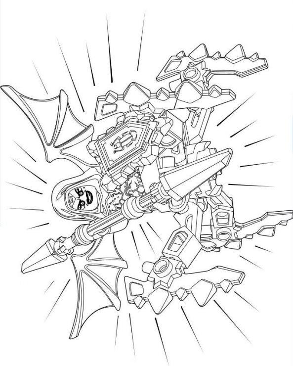 Kids N Fun De 29 Ausmalbilder Von Lego Nexo Knights