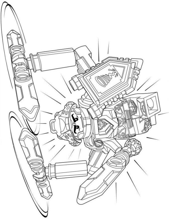 clay from lego nexo knights  free coloring page  fyrir