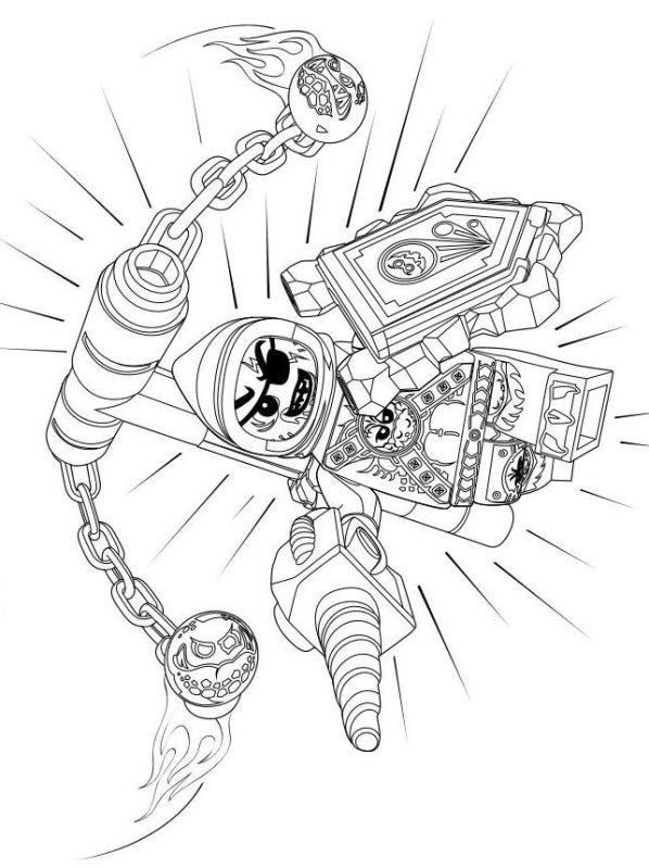 kidsnfunde  29 ausmalbilder von lego nexo knights