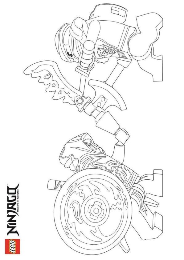 Lego Ninjago Coloring Pages Cole Zx