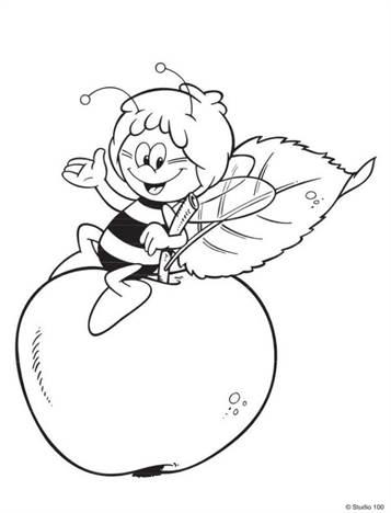 Kids N Funde 55 Ausmalbilder Von Biene Maja