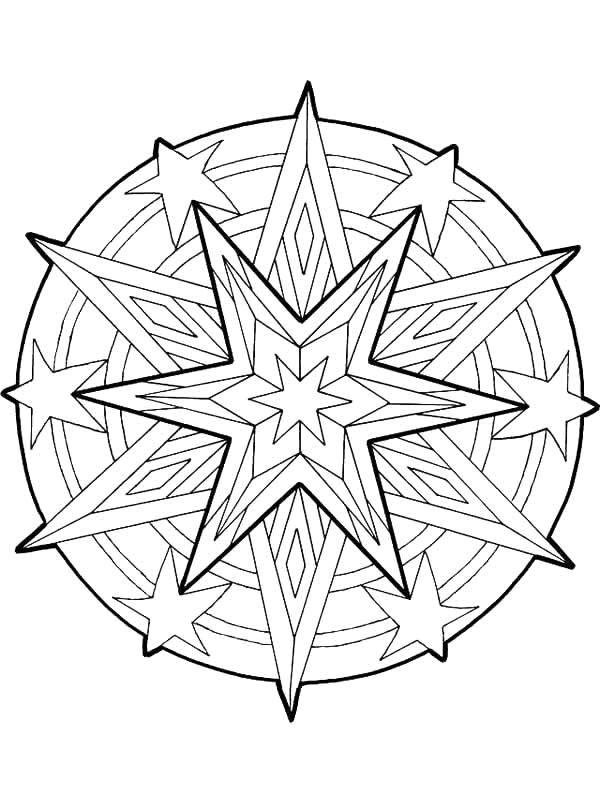 Kids N Funde Malvorlage Mandala Weihnachten Mandala Weihnachten