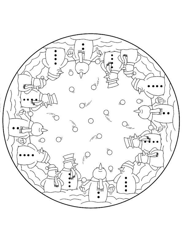 kidsnfunde  malvorlage mandala weihnachten mandala