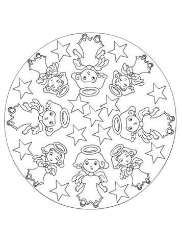 Ausmalbilder Mandalas Weihnachten Kostenlos.Kids N Fun De 36 Ausmalbilder Von Mandala Weihnachten