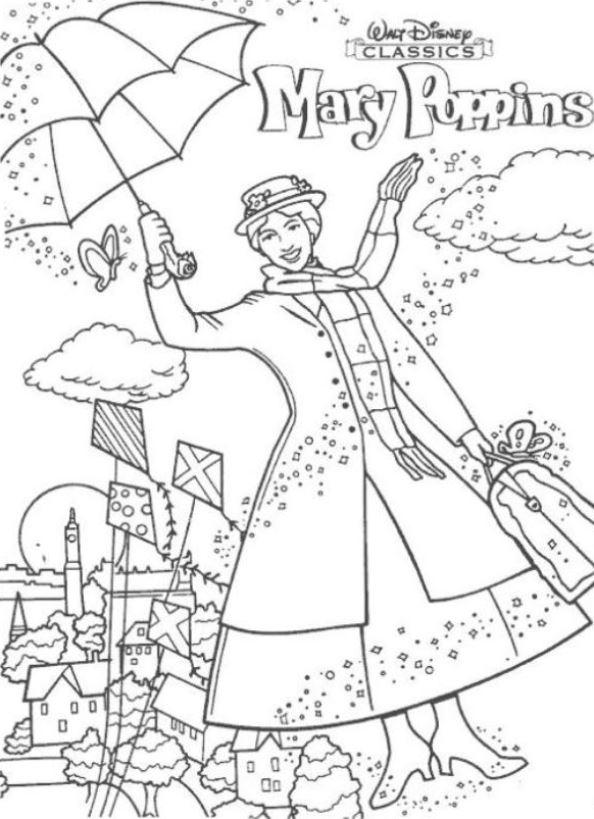 Kids-n-fun.de | 17 Ausmalbilder von Mary Poppins