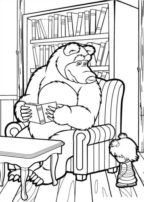 Kids N Fun De 50 Ausmalbilder Von Mascha Und Der Bär