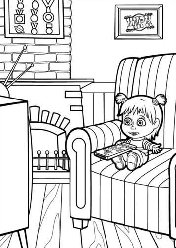 Kids N Fun De 50 Ausmalbilder Von Mascha Und Der Bar
