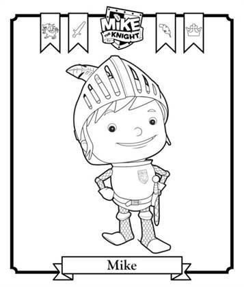 Kids N Funde 6 Ausmalbilder Von Mike The Knight