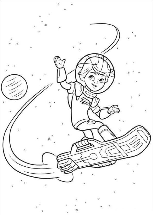 Kids-n-fun.de | 21 Ausmalbilder von Miles von Morgen