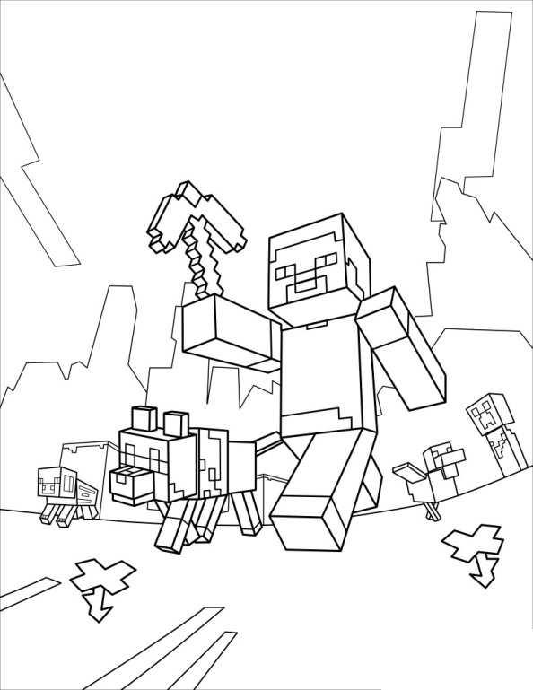 kidsnfunde  19 ausmalbilder von minecraft