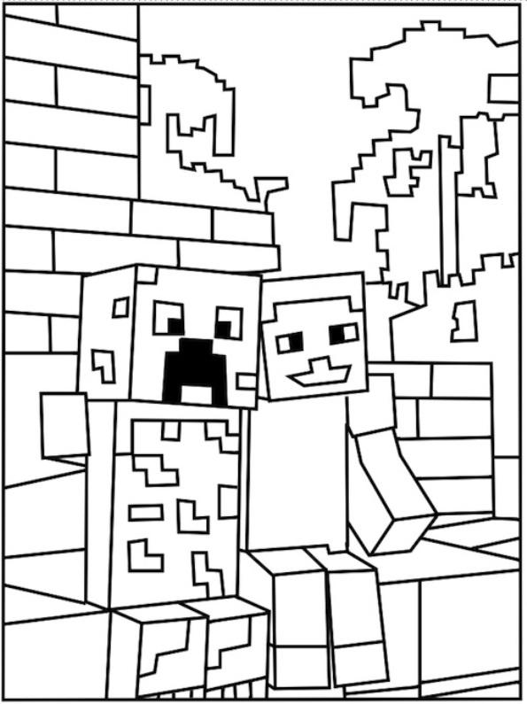Kids N Fun De 19 Ausmalbilder Von Minecraft