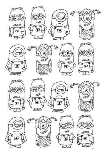 Kids N Fun De 36 Ausmalbilder Von Minions