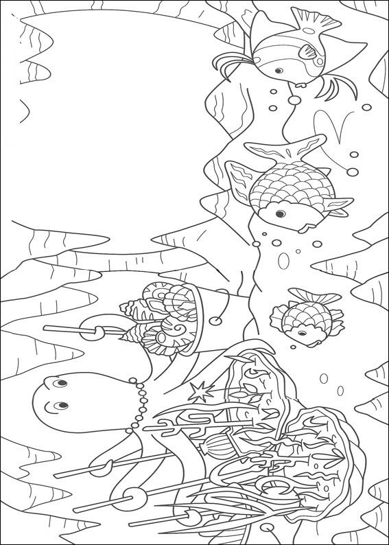 kidsnfunde  12 ausmalbilder von der regenbogenfisch