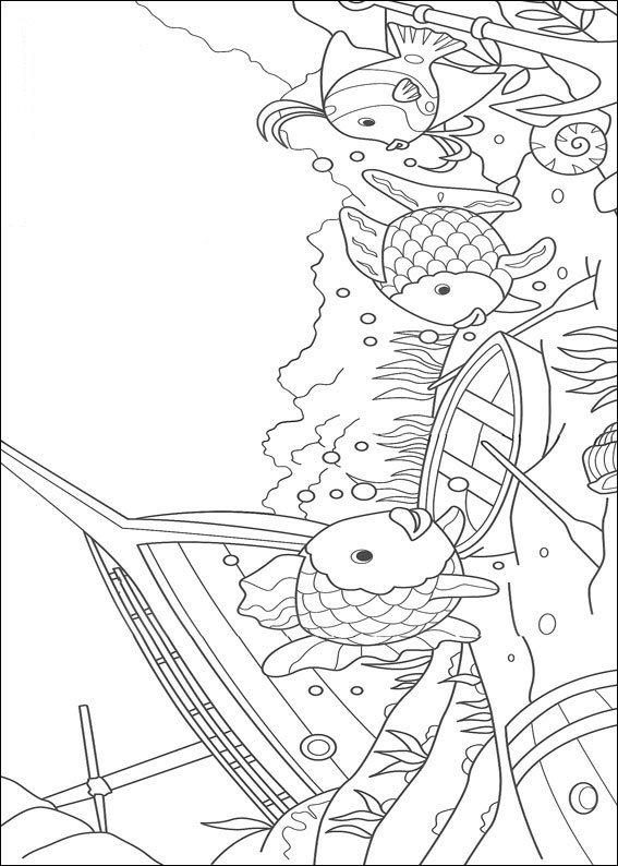 Kids N Fun De 12 Ausmalbilder Von Der Regenbogenfisch