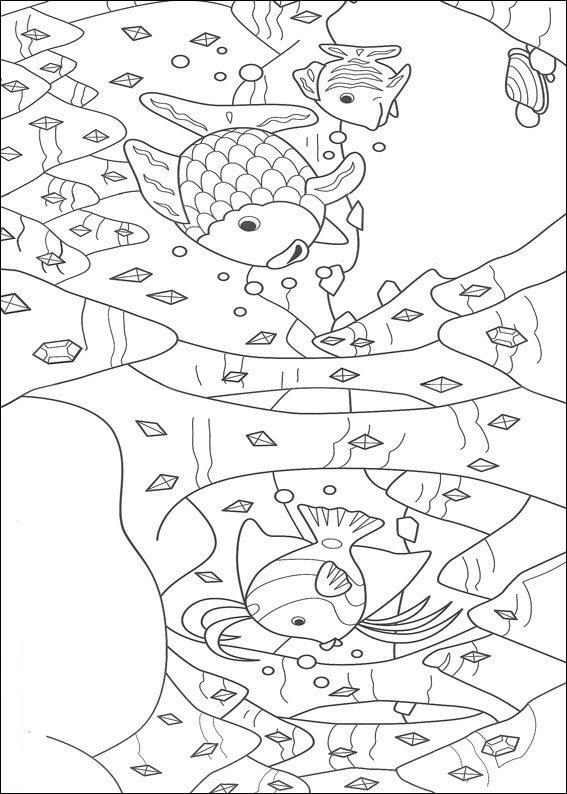 kidsnfunde  malvorlage der regenbogenfisch der