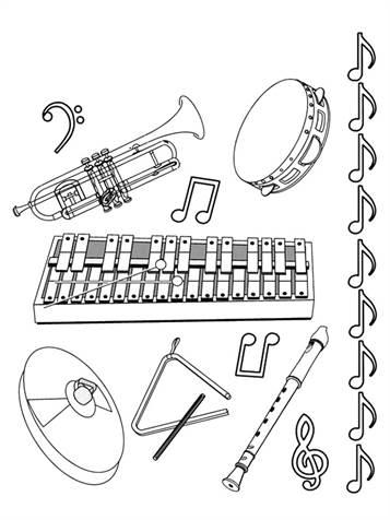 Kids N Fun De 62 Ausmalbilder Von Musikinstrumente