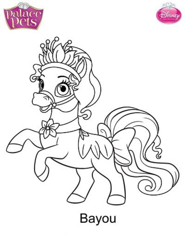 Beauty Palace Pet Coloring Page