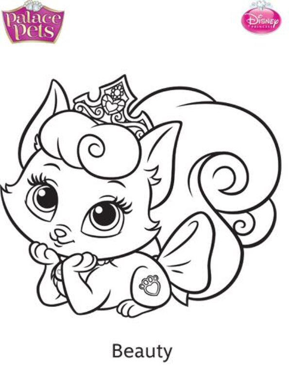 Kids N Fun De 36 Ausmalbilder Von Princess Palace Pets