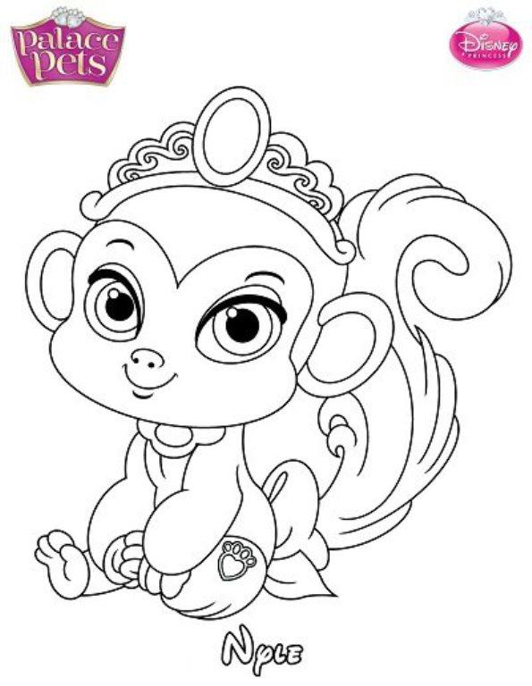 Kids-n-fun.de : Ausmalbild Princess Palace Pets nyle