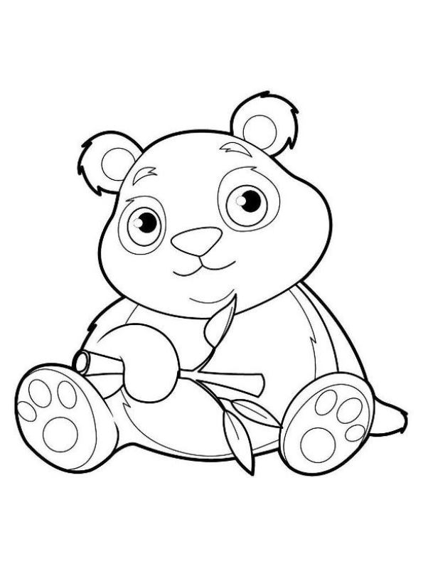 kids-n-fun.de   malvorlage panda panda