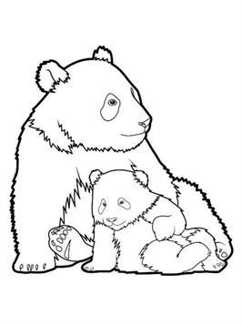 Kids-n-fun.de | 30 Ausmalbilder von Panda