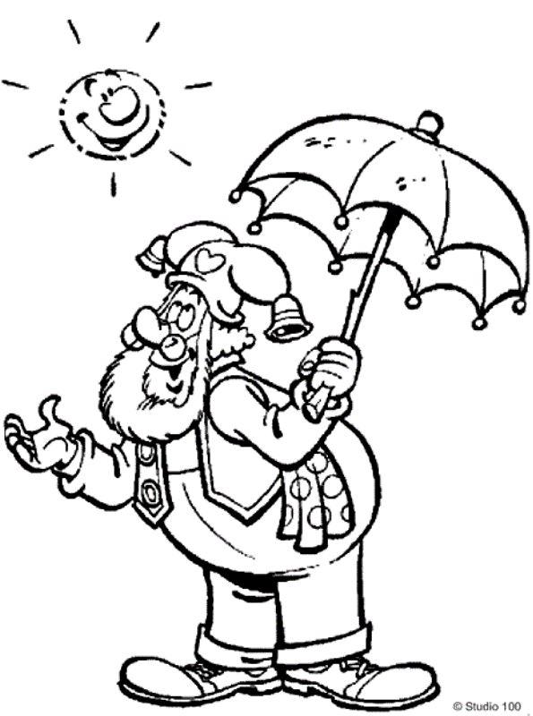kidsnfunde  malvorlage regenschirm gnome plop regenschirm